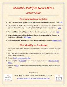 2019-01 Monthly Wildfire News